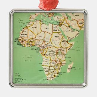 Ornamento De Metal Mapa de África (1966)