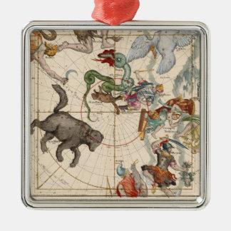 Ornamento De Metal Mapa do vintage do Pólo Norte