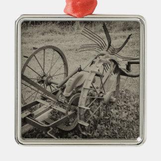 Ornamento De Metal Máquina agrícola do vintage