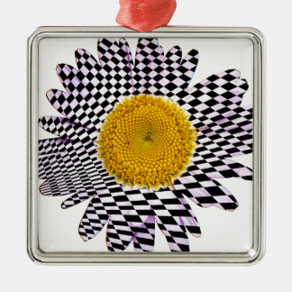 Ornamento De Metal Margarida do conselho de xadrez