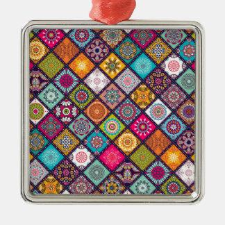 Ornamento De Metal Marroquino colorido do teste padrão da mandala