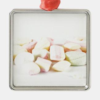 Ornamento De Metal Marshmallows dos doces