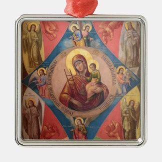 Ornamento De Metal Mary, Jesus, e anjos