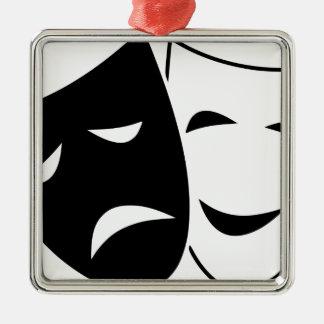 Ornamento De Metal Máscara da comédia e da tragédia