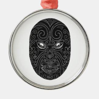Ornamento De Metal Máscara maori Scratchboard