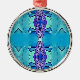 Ornamento De Metal Máscaras modernas vibrantes do roxo azul
