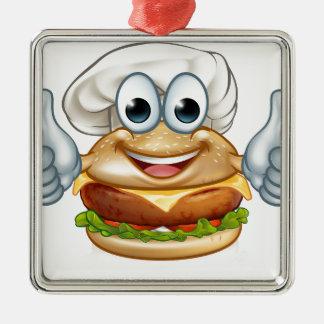 Ornamento De Metal Mascote do personagem de desenho animado da comida