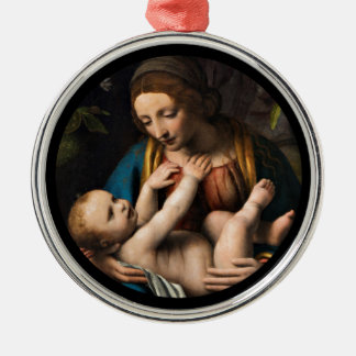 Ornamento De Metal MED Kristusbarnet de Madonna