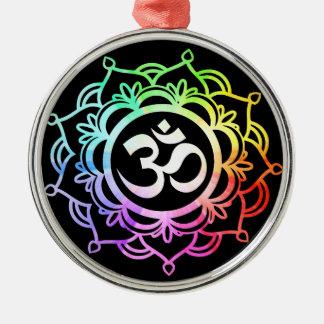 Ornamento De Metal Meditação 17 colorida