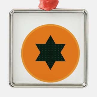 Ornamento De Metal meia fruta da estrela
