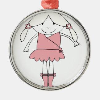 Ornamento De Metal Menina da bailarina