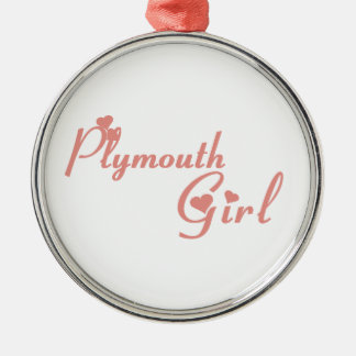 Ornamento De Metal Menina de Plymouth