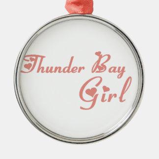 Ornamento De Metal Menina de Thunder Bay