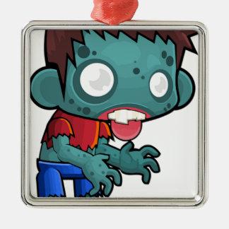 Ornamento De Metal Menino do zombi cómico