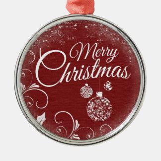 Ornamento De Metal mensagem do Feliz Natal