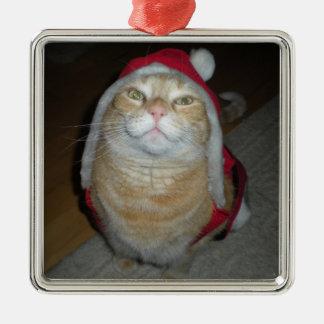 Ornamento De Metal Meow-y pouco Natal