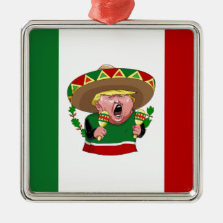 Ornamento De Metal mexicano Donald Trump