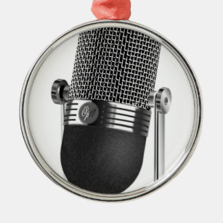 Ornamento De Metal Microfone clássico