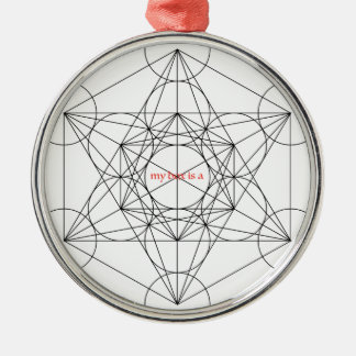 Ornamento De Metal minha caixa é… O cubo de Metatron