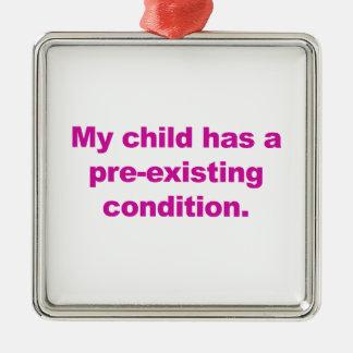 Ornamento De Metal Minha criança tem uma circunstância pre-existente