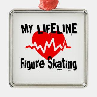Ornamento De Metal Minha linha de vida patinagem artística ostenta o