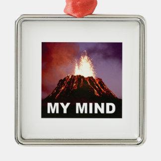 Ornamento De Metal minha mente do vulcão