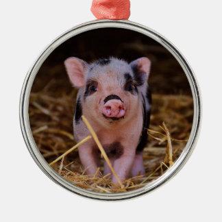 Ornamento De Metal mini porco