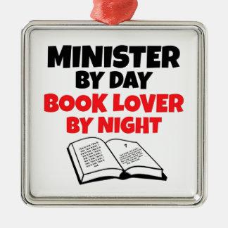 Ornamento De Metal Ministro pelo amante de livro do dia em a noite