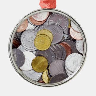 Ornamento De Metal Moedas romenas da moeda