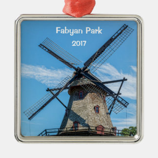 Ornamento De Metal Moinho de vento do Dutch do parque de Fabyan