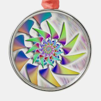 Ornamento De Metal Moinho de vento - espiral