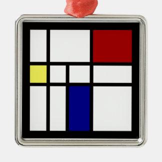 Ornamento De Metal Mondrian inspirou o design