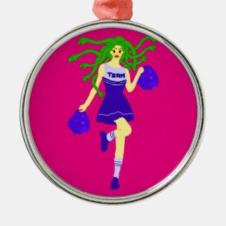 Ornamento De Metal monstro do cheerleader