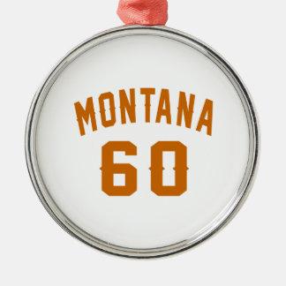 Ornamento De Metal Montana 60 designs do aniversário
