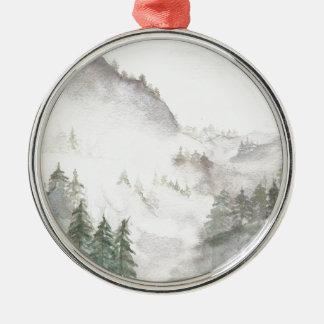 Ornamento De Metal Montanhas enevoadas