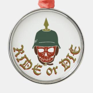 Ornamento De Metal Monte ou morra Pickelhaube