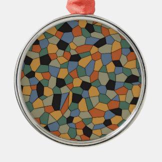 Ornamento De Metal Mosaico