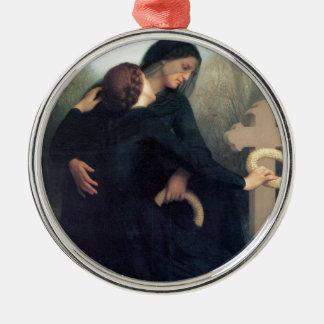 Ornamento De Metal Mulheres góticos Bouguereau da cruz preta do