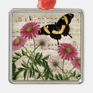 Ornamento De Metal música da borboleta da margarida