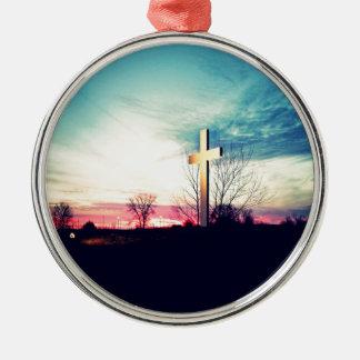 Ornamento De Metal Na cruz
