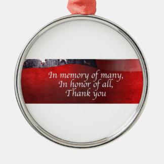 Ornamento De Metal Na memória de muitos em honra de todo o obrigado