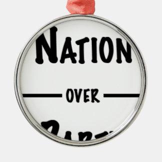 Ornamento De Metal Nação sobre a coleção do presente do partido