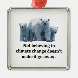 Ornamento De Metal Não acreditando nas alterações climáticas