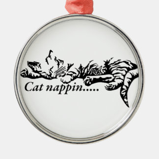 Ornamento De Metal Nappin do gato ..........