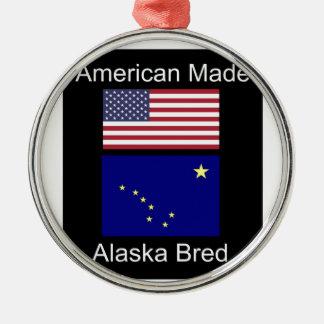 """Ornamento De Metal """"Nascer americano. Alaska produziu"""" bandeiras e"""