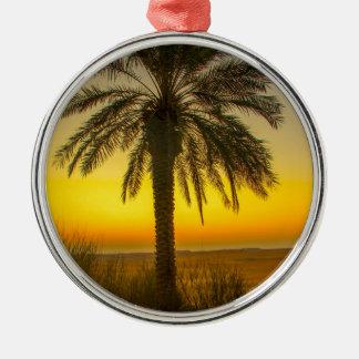 Ornamento De Metal Nascer do sol da palmeira
