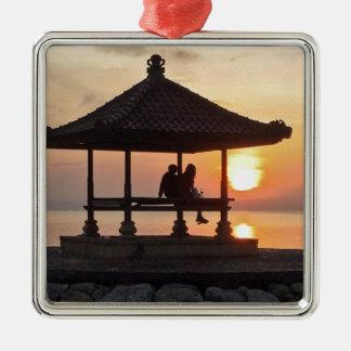 Ornamento De Metal Nascer do sol em Bali