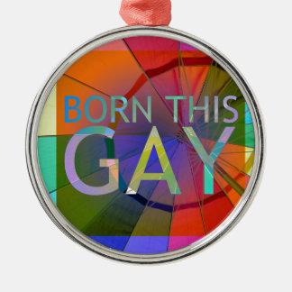 Ornamento De Metal Nascer este gay