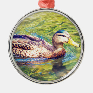 Ornamento De Metal Natação bonito do pato