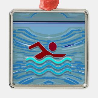 Ornamento De Metal Natação da malhação NVN254 do exercício do nadador